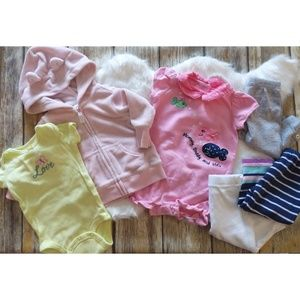 Carter's baby girl 3month 6 piece lot    #0867